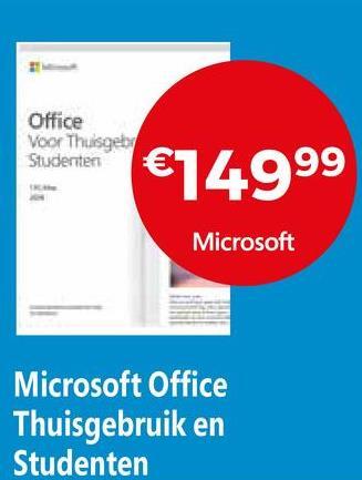 Office Voor Thuisgeb Studenten Blasten €74999 Microsoft Microsoft Office Thuisgebruik en Studenten