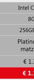 Intel C 8C 256GE Platinu matz € 1. € 1.