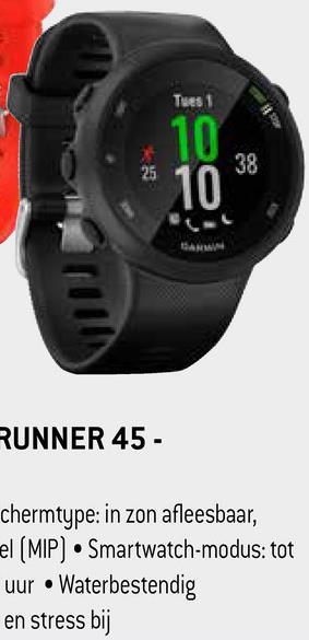 RUNNER 45 - chermtype: in zon afleesbaar, el (MIP) Smartwatch-modus: tot uur • Waterbestendig en stress bij