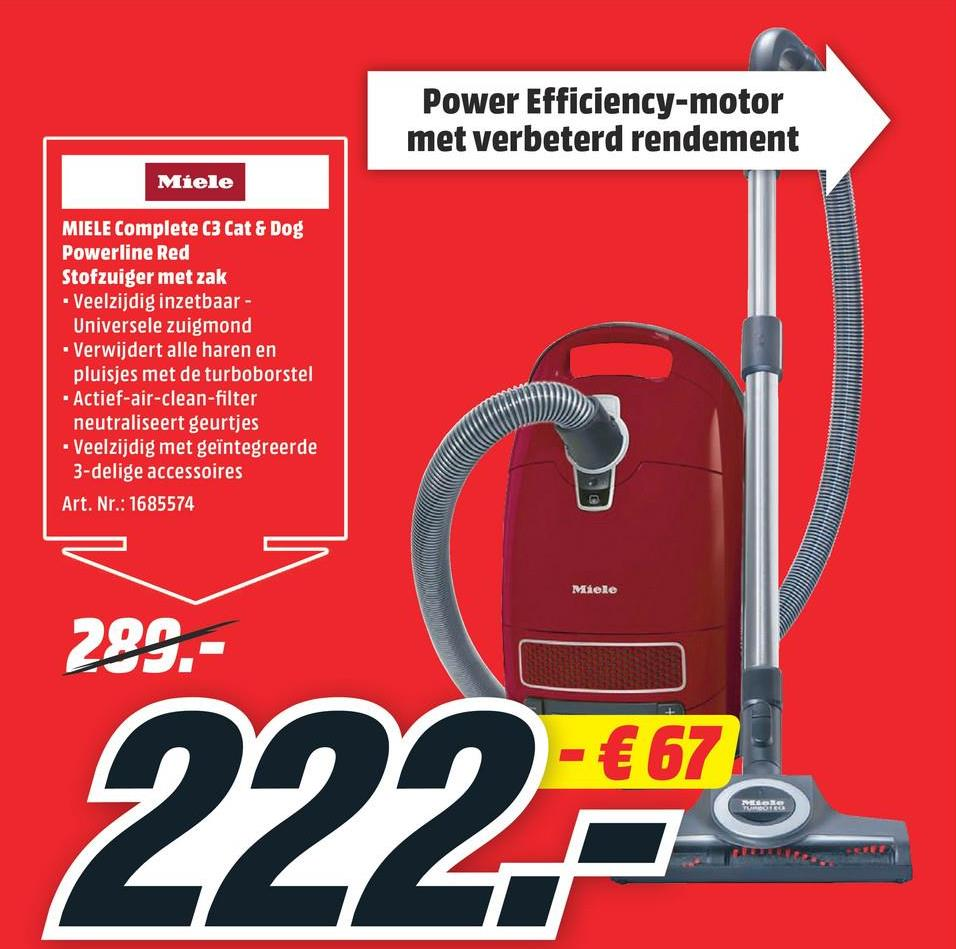 MIELE Stofzuiger Complete C3 Cat&Dog PowerLine (SGEF3) MIELE Stofzuiger Complete C3 Cat&Dog PowerLine (SGEF3)
