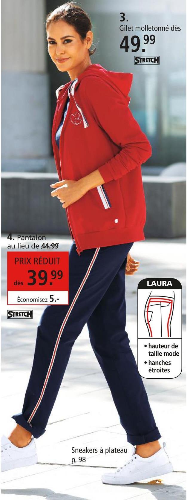 Veste molletonnée Laura Kent Rouge Une pièce parfaite pour tous les jours et facile à combiner: cette veste molletonnée décontractée à poches biais Laura Kent ne peut que vous plaire! En outre, des bandes fantaisie ornent la veste. La part de coton vous offre une sensation de douceur unique tandis que la matière synthétique rend le modèle indéformable et particulièrement facile d'entretien. La veste arbore une fermeture à glissière. Si vous ne voulez pas vous encombrer d'un sac, des poches biais offrent un espace de rangement supplémentaire pour y ranger vos accessoires, tels que vos clés ou votre smartphone! Bas des manches extensible. Composer une tenue devient un jeu d'enfant grâce à son coloris uni. Commandez cette veste molletonnée Laura Kent sur notre boutique en ligne pour recevoir votre nouveau coup de coeur mode sans délai directement à la maison!