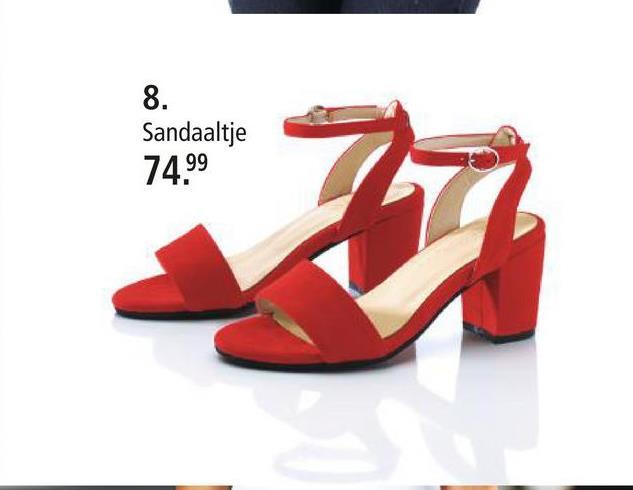 Sandaaltje KLiNGEL rood Dit modieuze sandaaltje heeft vast en zeker een plek in uw schoenenkast verdiend. Het sandaaltje heeft een blokhak van 6,5 cm. De binnenzool is gemaakt van leer en daardoor bijzonder ademend, de zool is van synthetisch materiaal. De schoen heeft een open teen.