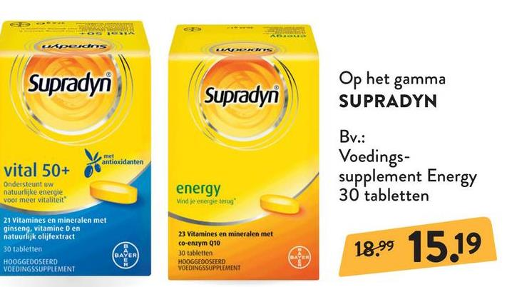 SUPRADYN Energy - 30 tabletten SUPRADYN Energy - 30 tabletten