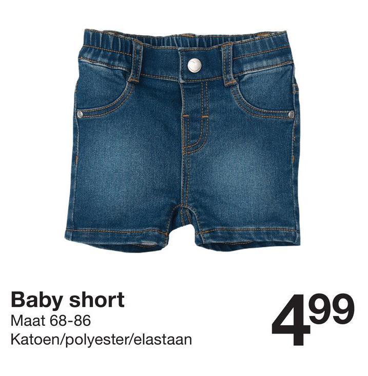 Baby short Maat 68-86 Katoen/polyester/elastaan 499