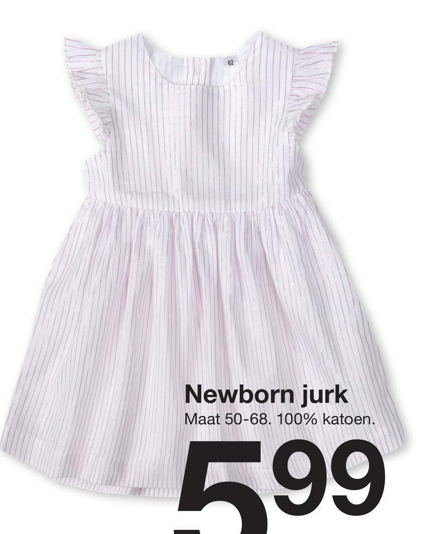 Newborn jurk Maat 50-68. 100% katoen. 599