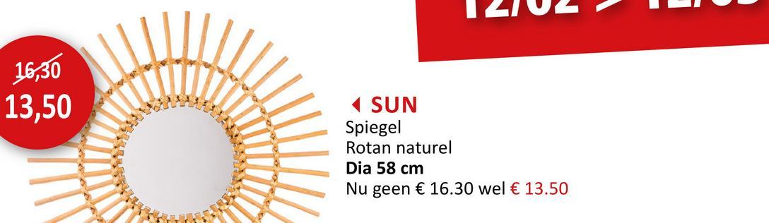 Spiegel Sun Ø58cm Bijzetelementen Spiegels Bijzetmeubels Wanddecoratie