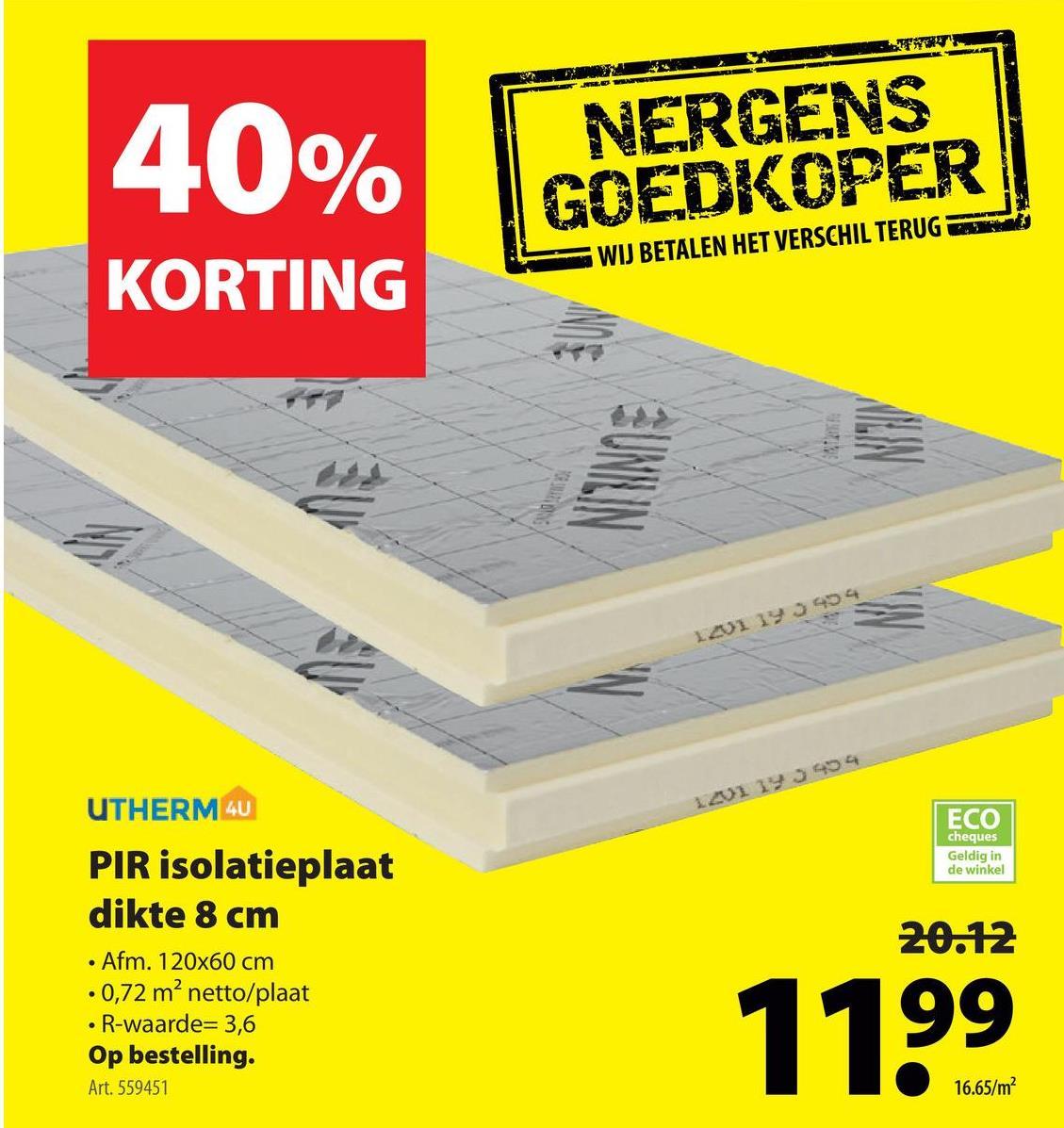 XTRATHERM PIR 120x 60 cm dikte 8,2 cm tg R=3,70 Het PIR isolatiemateriaal van Xtratherm is uitermate geschikt voor de isolatie van je renovatieproject en nieuwbouw. Deze dubbelzijdig beklede plaat met tanden en groeven van 120 op 60 cm en 82 mm dik kan je gebruiken om je daken, vloeren en spouwen te isoleren tegen water, warmte en brand. En de R-waarde? Die bedraagt 3,7.