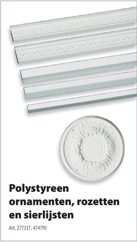 Decoflair rozet  pu m72 300mm wit De Decoflair rozet uit polyurethaanschuim in de kleur wit type M72 heeft en diameter van 300 millimeter en geeft je interieur instant karakter. Gebruik de rozet bijvoorbeeld als naadloze overgang tussen je plafond en je verlichtingsarmatuur. De rozet zorgt niet alleen voor karakter, maar is ook het ideale hulpmiddel om kleine foutjes en oneffenheden te verbergen. Verkrijgbaar in verschillende afmetingen, stijlen en types. Tip: bevestig met de decoratielijm van hetzelfde merk.