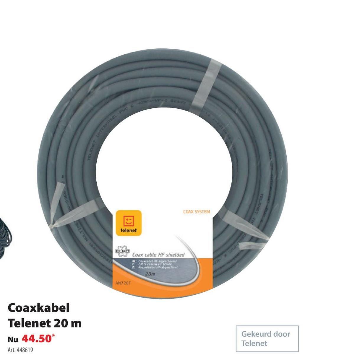 Q-link coaxkabel Telenet grijs - lengte 20 m -