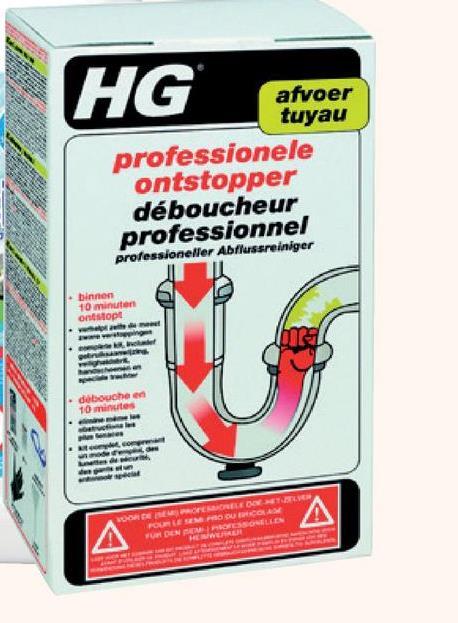 HG professionele ontstopper 250 ml HG doet wat het belooft. En maar goed ook, want het Zweedse merk heeft voor elke huishoudelijke klus een ander product in huis. Een van die producten is deze professionele ontstopper die ontstoppingen binnen de 10 minuten oplost … Ideaal voor klussers met weinig tijd of geduld.
