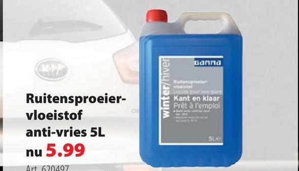 GAMMA ruitensproeiervloeistof anti-vries -15° 5 L -