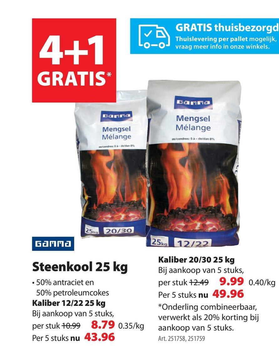 GAMMA steenkool 12-22mm 25 kg Het kleine steenkool (12-2 mm) van GAMMA heeft uitzonderlijk veel rendement en laat slechts 5 tot 8% as na. De steenkool bestaat voor 50% uit antraciet en 50% uit petroleumcokes.Onmisbaar voor doorwinterde kachelfans en zonnige barbecuevedetten. Verkrijgbaar in voordeelzakken van 10 of 25 kilogram.