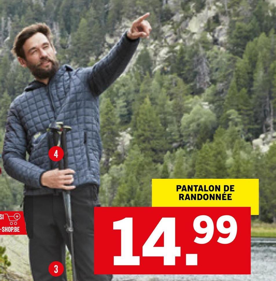 PANTALON DE RANDONNEE Oo -SHOP.BE 14.99