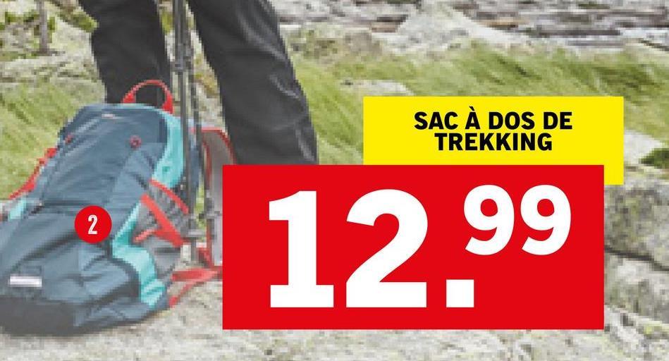 SAC À DOS DE TREKKING 2 12.99