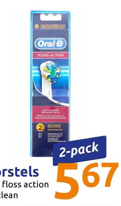 Oral-B FLOSS ACTION TERE ALD CINTA 2 2-pack Erstels 567 erstels floss action clean