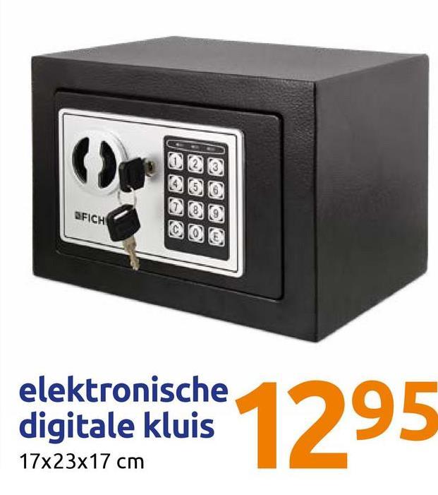 FICH digitale kluise 129 elektronische digitale kluis 17x23x17 cm