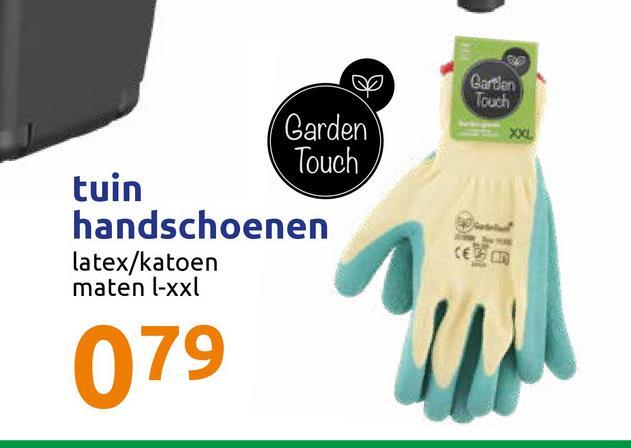 Gardan Touch Garden Touch tuin handschoenen latex/katoen maten l-xxl CE 079