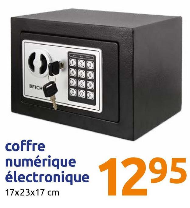 AY FICH @ e coffrerique 1295 coffre numérique électronique 17x23x17 cm