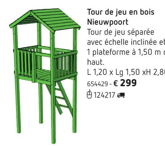 Tour de jeu en bois Nieuwpoort