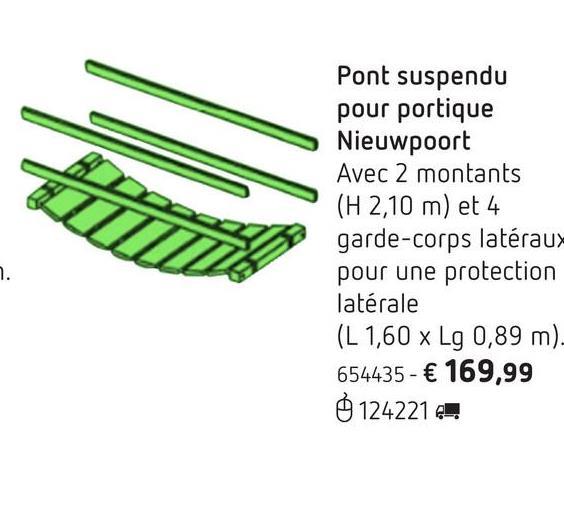 Pont suspendu pour portique Nieuwpoort