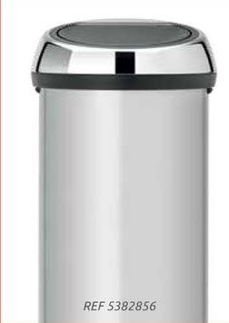 Brabantia vuilbak 'Touch Bin' metallic grey 60 L De 'Touch Bin'-prullenbak is een must voor elke keuken, maar ook in hobbyruimte of kantoor misstaat deze afvalverzamelaar niet.