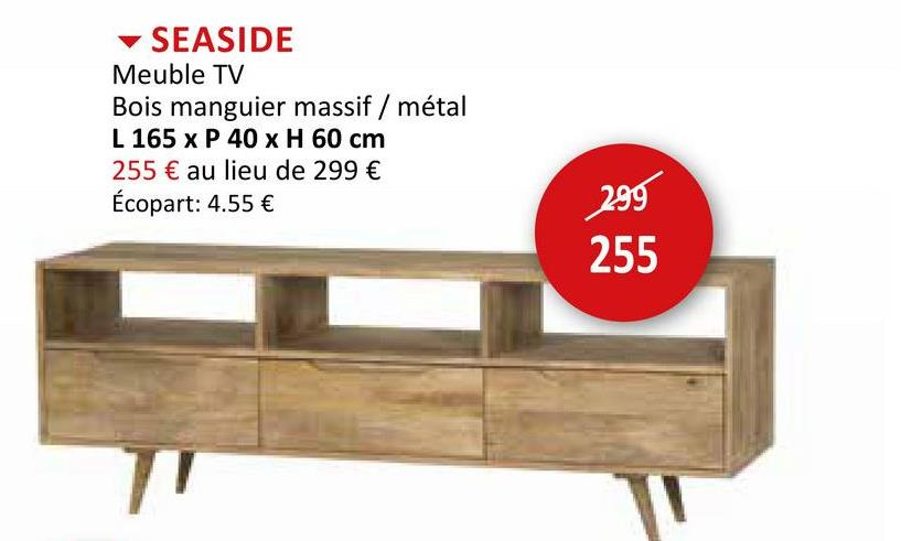 Meuble TV Seaside 165cm Meubles D'appoint Meubles TV Armoires