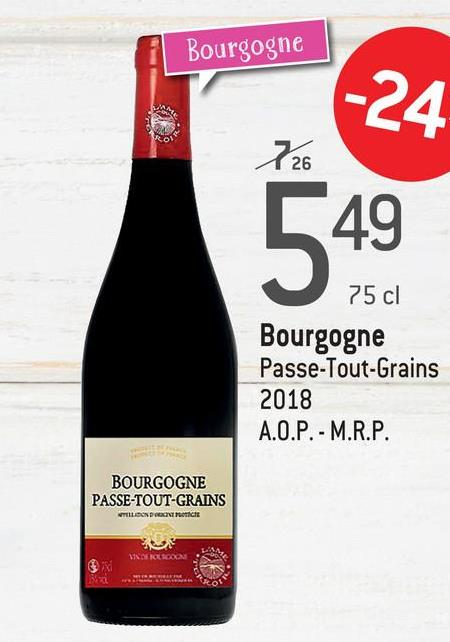 Bourgogne [49 75 cl Bourgogne Passe-Tout-Grains 2018 A.O.P. - M.R.P. BOURGOGNE PASSE-TOUT-GRAINS VTILLION DON TICE **HOLICON