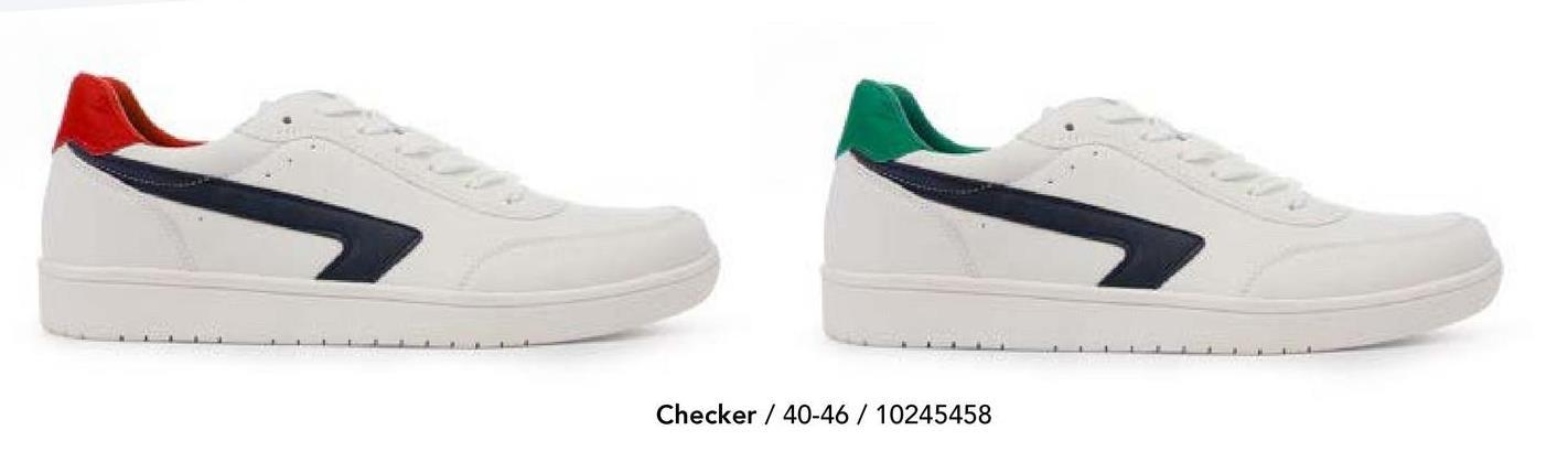 Sneaker Checker - Wit - Synthetisch Casual witte sneaker met gekleurde details en veters van het merk Checker voor mannen. Twijfel niet langer en koop ze nu bij Bristol!