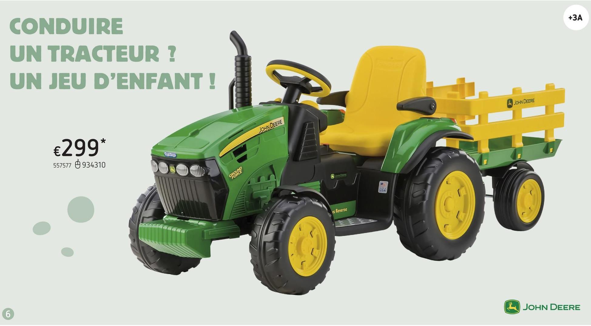 Peg-Pérego tracteur électrique John Deere Ground Force