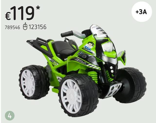 Injusa quad électrique The Beast Kawasaki