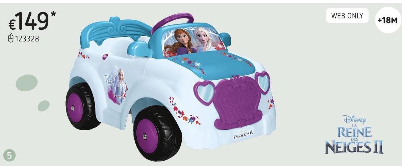 Feber voiture électrique Disney La Reine des Neiges II