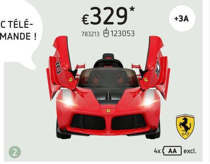 Voiture électrique Ferrari LaFerrari FXXK