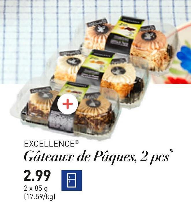 EXCELLENCE® Gâteaux de Pâques, 2 pcs* 2.99 0 2 x 85 g (17.59/kg)