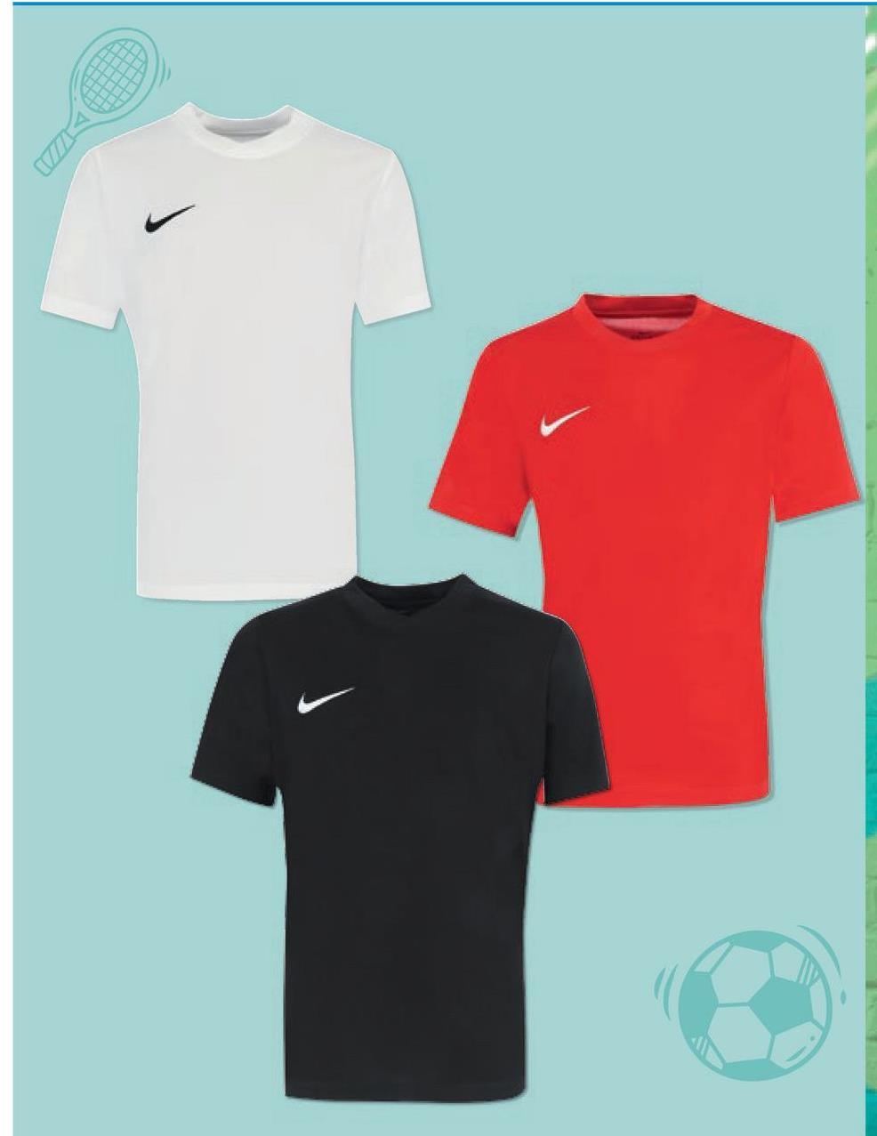 T-shirt Nike pour enfants polyester, choix entre différentes couleurs, tailles 128/140 à 158/170