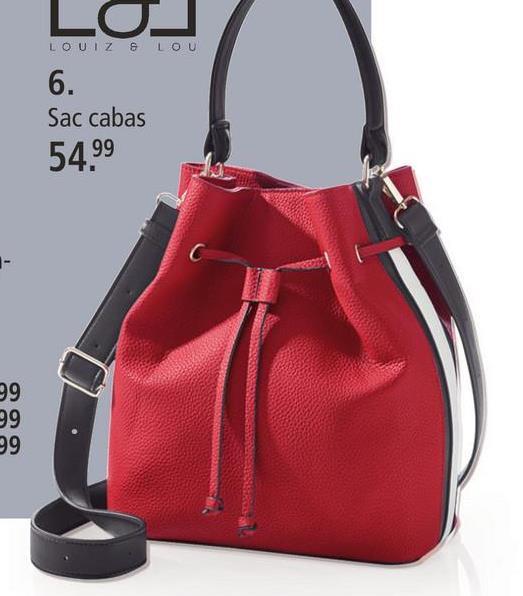 Sac besace LOUIZ & LOU Rouge/noir/blanc Ce sac cabas de la marque LOUIZ & LOU à motif rayé est votre partenaire mode idéal pour de nombreuses occasions. Intemporel et mode, le coloris Rouge/noir/blanc uni du sac cabas ne pourra que vous satisfaire! Il a un compartiment intérieur. Fermeture aimantée. Présence d'aimant: ne convient pas aux femmes enceintes, ni aux porteurs d'un stimulateur cardiaque ou d'un défibrillateur.