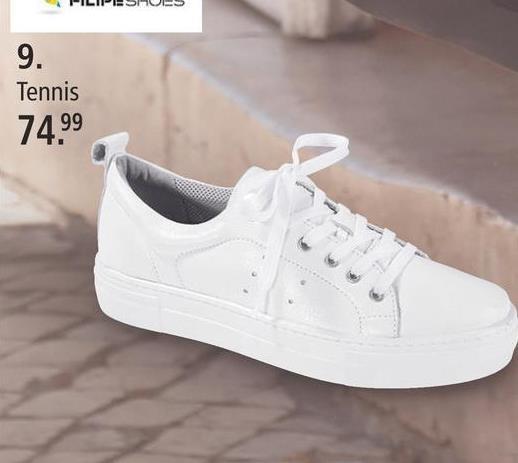 Sneakers à plateau Filipe Shoes Blanc Vous recherchez des tennis décontractées? Ce modèle Filipe Shoes en cuir lisse haut de gamme comblera vos désirs. Elles ont un plateau de 30 mm. Doublure: textile et cuir, première: cuir et semelle de marche continue: synthétique. Les chaussures se distinguent par leur forme arrondie. Elles se ferment par lacets.