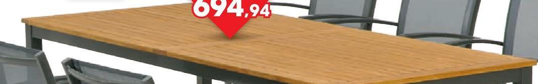Tuintafel Telfair 200x90 cm De prachtige tuintafel Telfair van Garden Plus, met aluminium frame en hardhouten eucalyptus tafelblad, laat je stijlvol tafelen in je eigen tuin. Deze tuintafel meet 200x90 cm en heeft een tijdloos design. Het hardhout dat gebruikt werd voor het tafelblad is FSC-gekeurd.