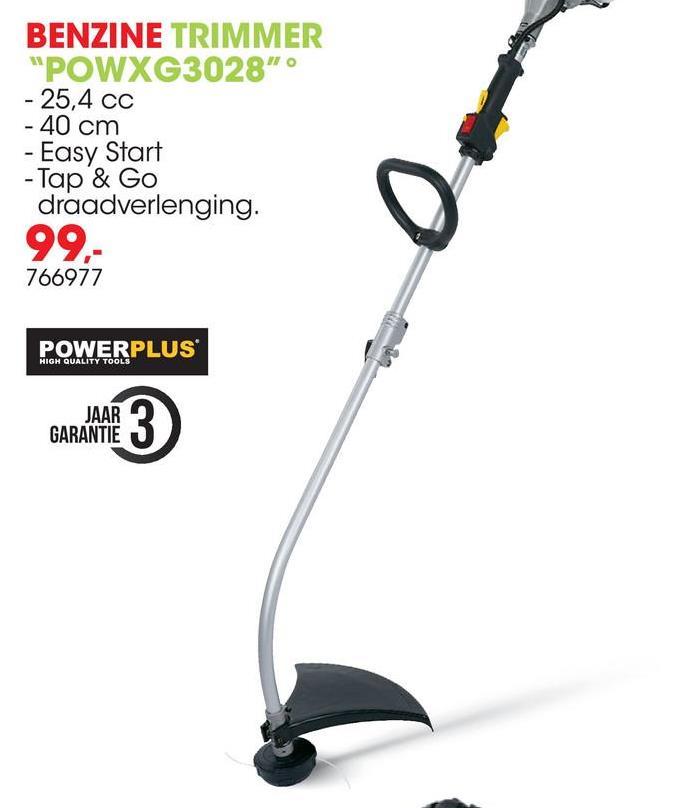 Benzine trimmer 25,4cc 40cm POWXG3028