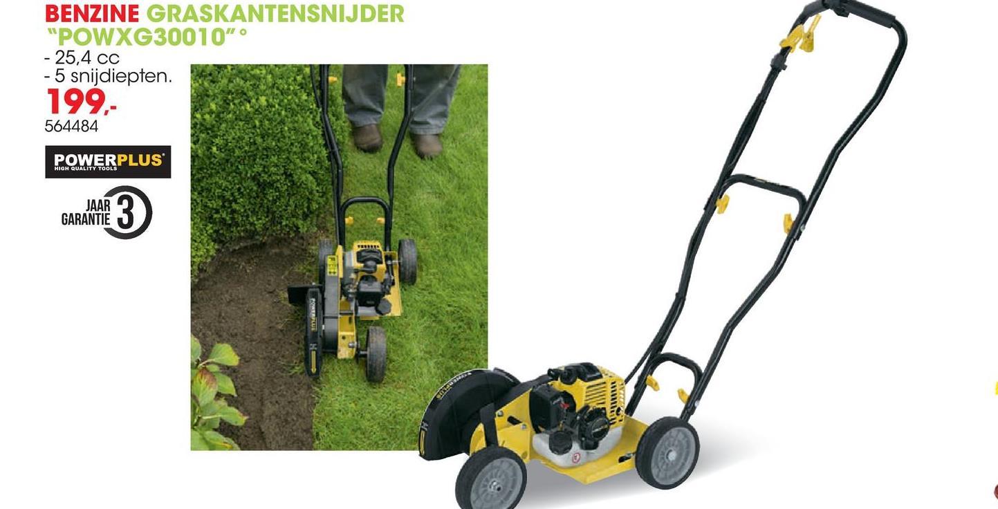 Benzine graskantensnijder 25,4cc POWXG30010 Deze graskantensnijder van Powerplus X Garden is perfect voor elke tuin, klein of groot. Hij werkt de randen van je gazon of lastige graskanten of randen van je gazon proper af, zodat je weer kan genieten van een ordelijke tuin. Deze 25,4cc graskantensnijder is een plezier om mee te werken dankzij het lage trillingsniveau. De 'heavy duty'-koppeling gaat echt jaren mee en zorgt voor de nodige kracht en een soepele werking. Het handvat is ook inklapbaar zodat je de graskantensnijder compact kan opbergen.