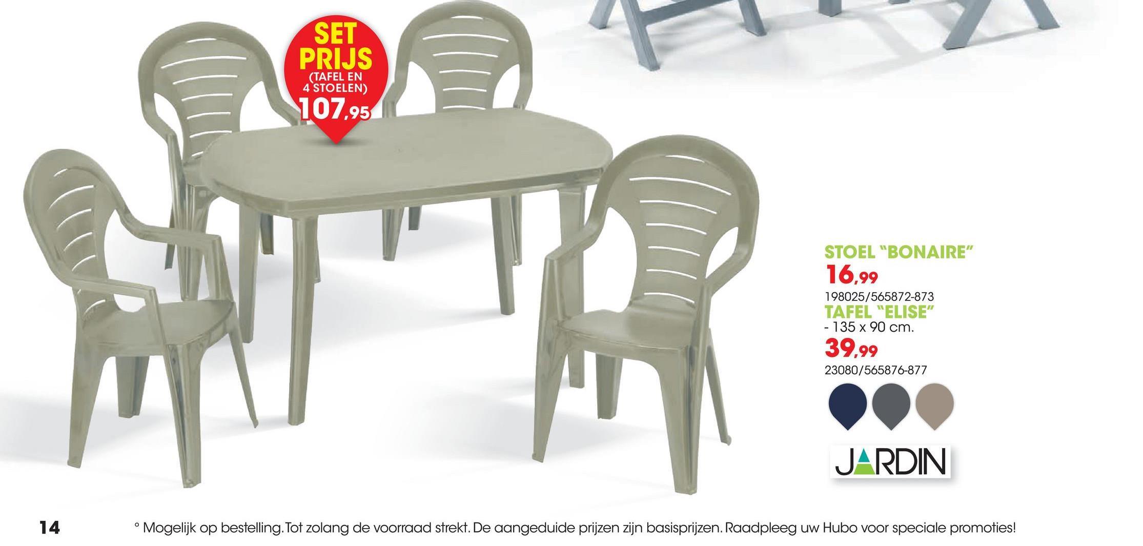 Tuinstoel Bonaire blauw De hoge stapelstoel Bonaire in blauw van Jardin is fraai afgewerkt met hoge latten. Door de uitvoering in duurzaam en zeer onderhoudsvriendelijk materiaal is deze klassieker onder de tuinstoelen eenvoudig te reinigen.Voordelen:<ul><li>Weerbestendig</li><li>Onderhoudsvrij</li><li>Gemakkelijk te reinigen</li><li>Stapelbaar</li></ul>