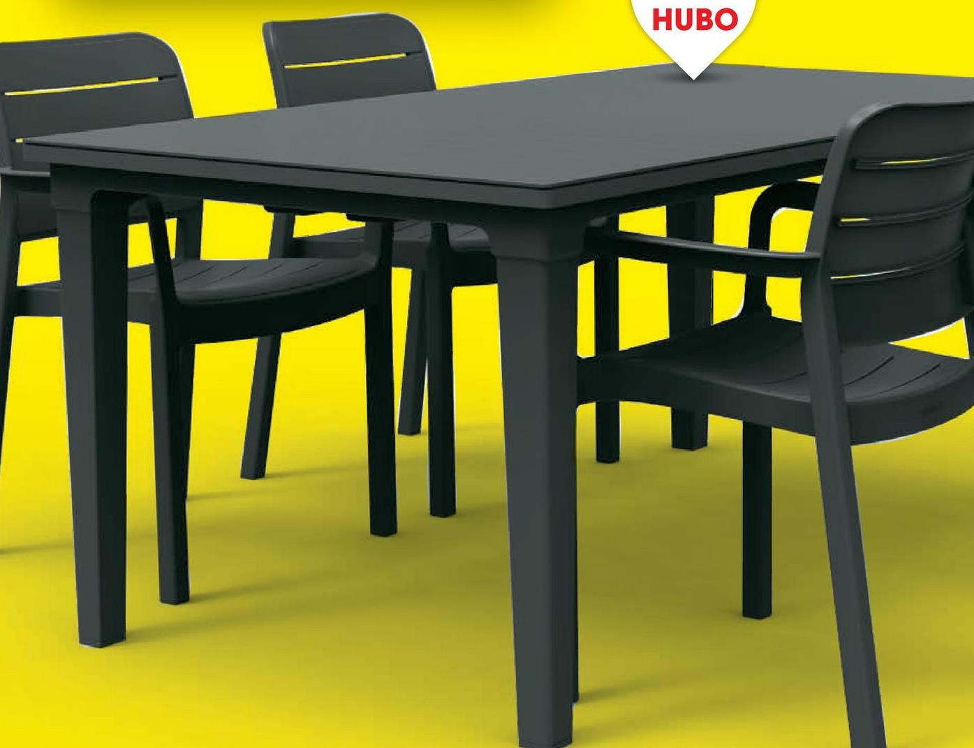 Tuintafel Futura 165x95 cm grafiet Het stijlvolle slanke ontwerp van de grafiet tafel Futura van Allibert is een aanwinst voor iedereen die lekker veel buiten wil eten. Het lattenontwerp combineert de look en feel van een houten tafel met de gebruiksvoordelen van kunststof. Deze weerbestendige tafel kan in elk seizoen buiten blijven staan.Voordelen:<ul><li>Weerbestendig</li><li>Onderhoudsvrij</li><li>Gemakkelijk te reinigen</li><li>Eenvoudige montage</li></ul>