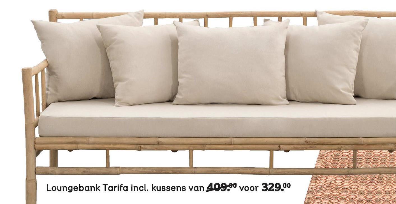 Loungebank Tarifa incl. kussens van 409.00 voor 329.00