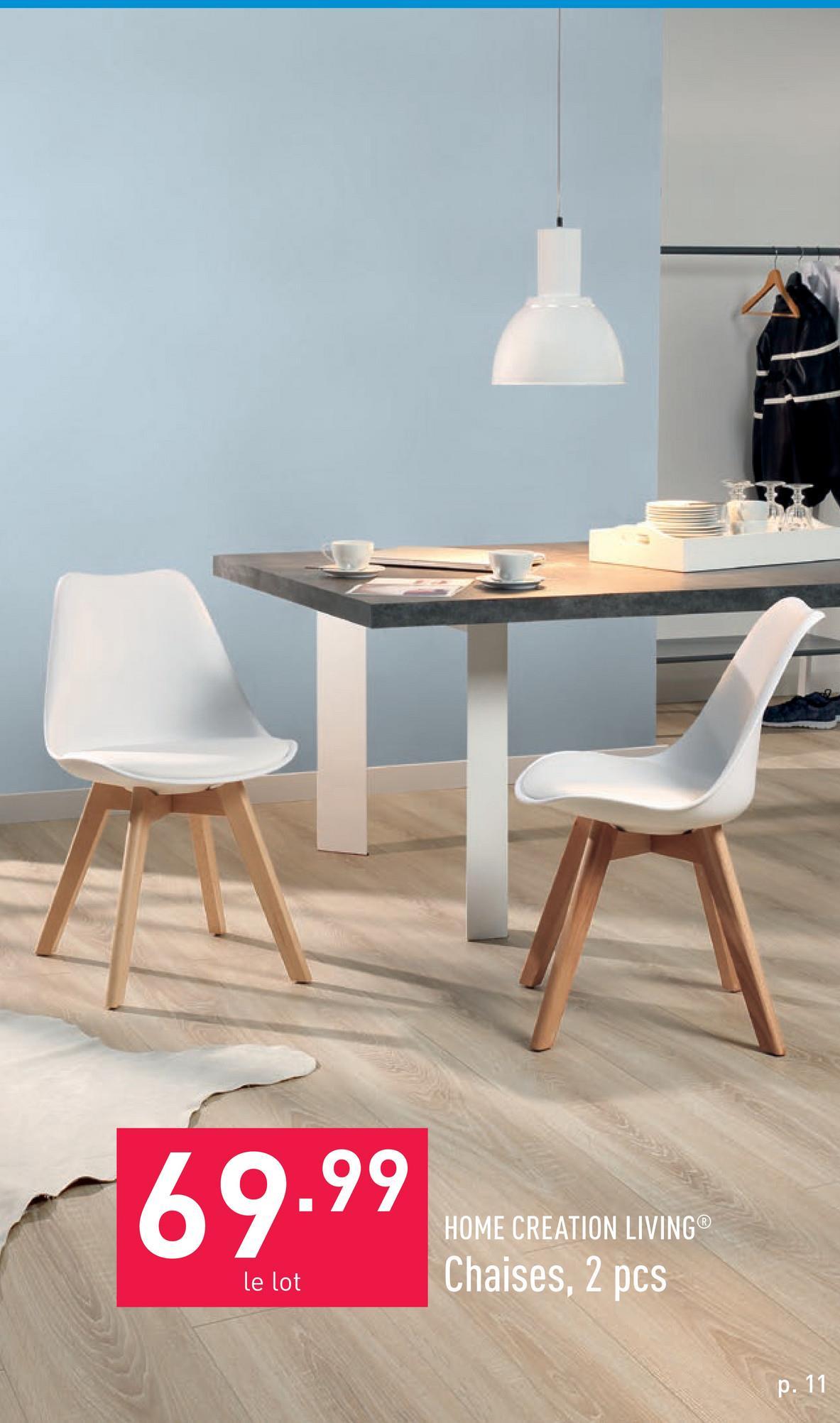Chaises, 2 pcs env. 53 x 48 x 82 cm (L x P x H)pieds en hêtre massif (certifié FSC®)garniture en similicuirassise confortable grâce au rembourrage en mousse du siège