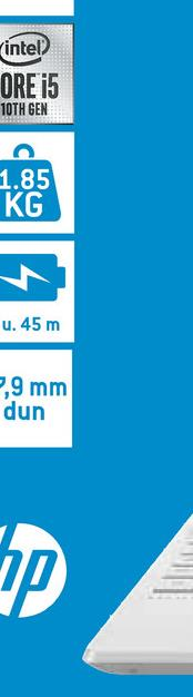 intel ORE i5 10TH GEN 1.85 KG A. 45 m 5,9 mm dun