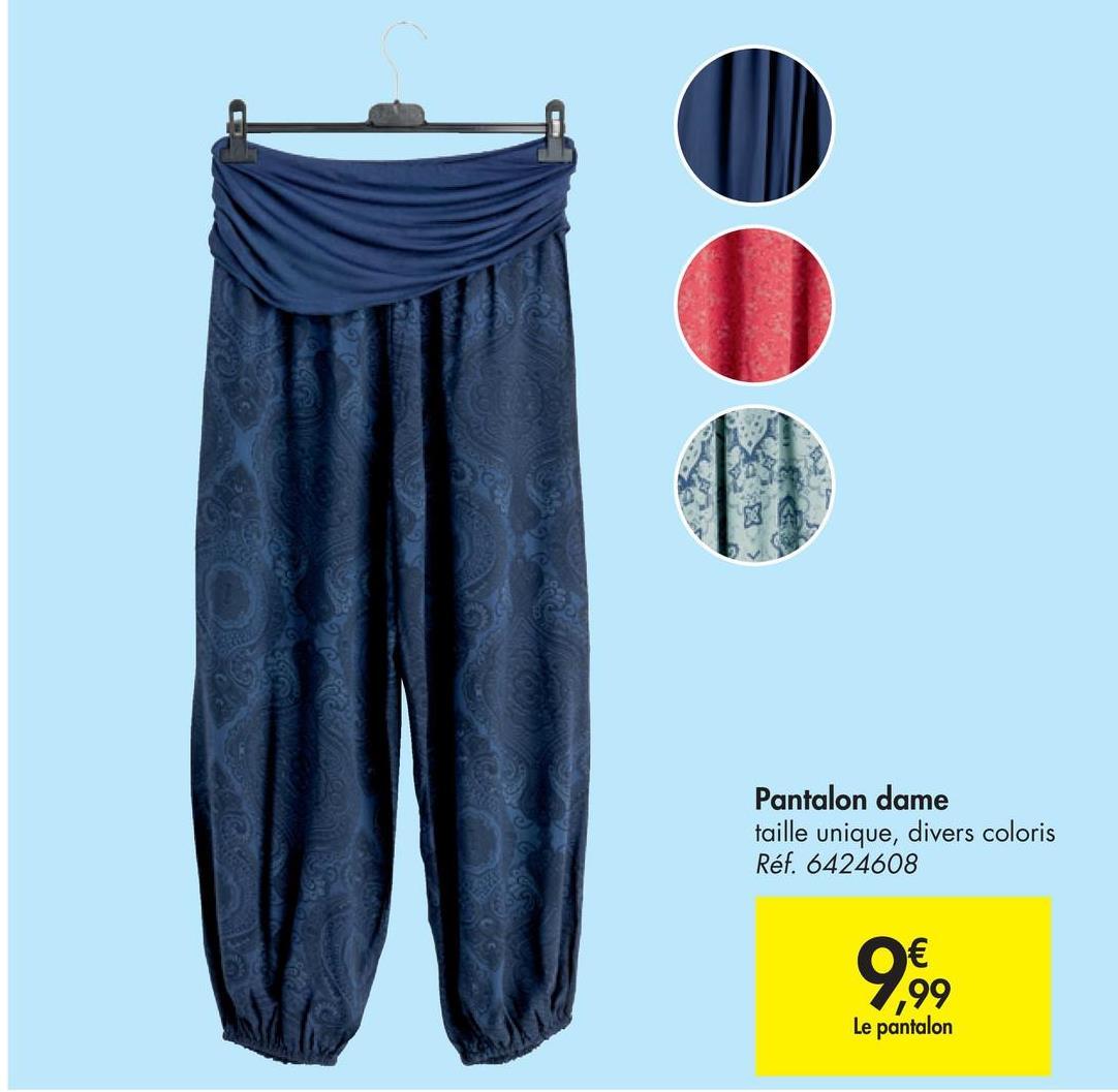 Pantalon dame taille unique, divers coloris Ref 6424608 ၅၅ Le pantalon