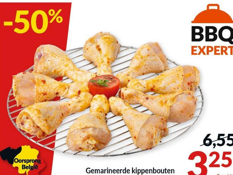 -50% ВВО EXPERT 6,55 Oorsprong België 325 Gemarineerde kippenbouten