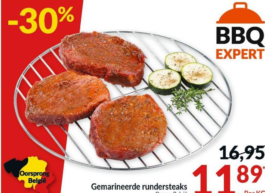 -30% BBO EXPERT 16,95 Oorsprong België 1189 Gemarineerde rundersteaks