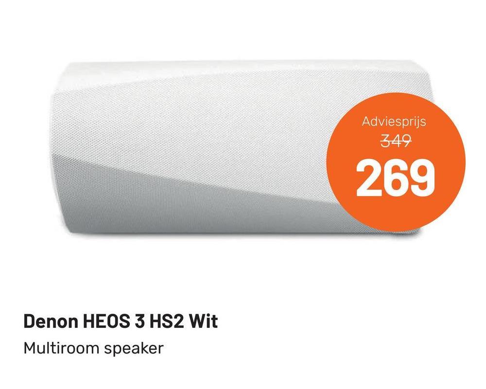 Adviesprijs 349 269 Denon HEOS 3 HS2 Wit Multiroom speaker