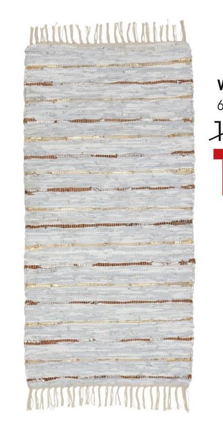 Vloerkleed Apatula Grijs Sfeervol handgeweven vloerkleed in grijs. Afmeting 120x60 cm (lxb).
