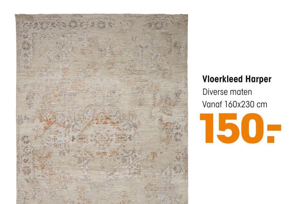 Vloerkleed Harper Diverse maten Vanaf 160x230 cm 150-
